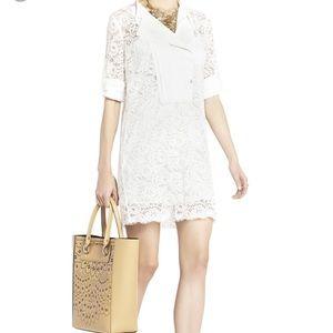 BcbgMaxAzria off white lace dress.  Xxs